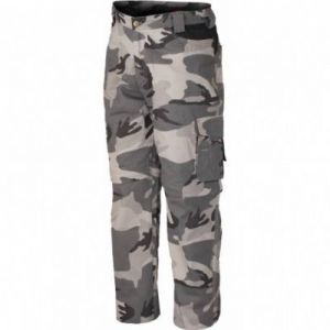Pantaloni zip mimetici grigi e blu