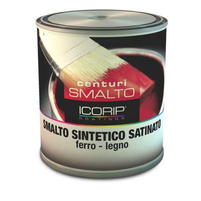 CENTURI SMALTO SATINATO  Bianco  750 ml Smalto sintetico fondo/finitura, antocorrosivo