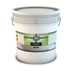 ICOSAN DEFEND 4 lt  Idropittura traspirante ad effetto risanante, indicata su pareti soggette a deterioramento batterico (muffe, alghe, funghi,ecc)