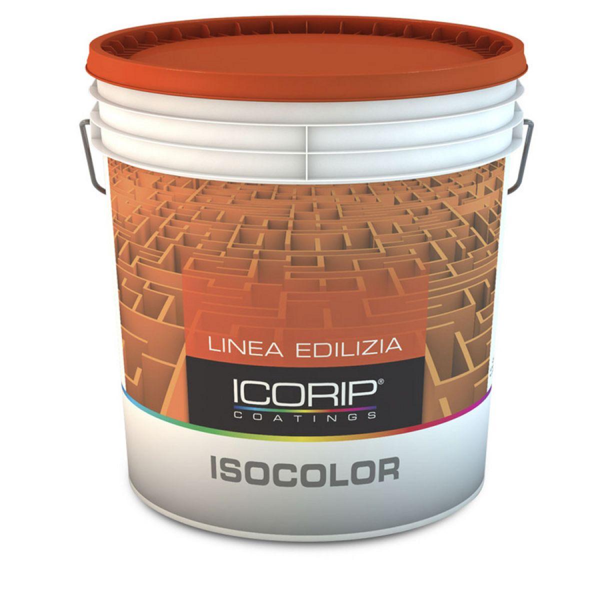 ISOCOLOR Bianco 14 lt Idropittura traspirante microporosa, idrorepellente, per interni ed esterni coperti, particolarmente indicata per bagni e cucine