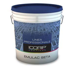 EMULAC Bianco  5lt Idropittura acrilica di ottima qualità, indicata per ottenere una finitura di pregio uniforme, lavabile, opaca, vellutata.