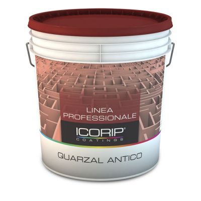 QUARZAL ANTICO Bianco 5 lt  Idropittura per interni ed esterni, a base di resine stirolo-acriliche e polveri di quarzo, resistente agli agenti atmosferici