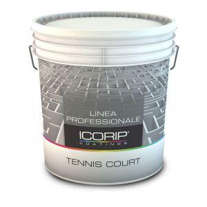 TENNIS COURT BIANCO 5 LTIdropittura elastomerica bilanciata, applicabile su pavimentazioni in cemento o in asflato