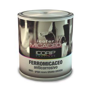 ICOFER FERROMICACEO  6000 750 ml Smalto anticorrosivo, ad effetto antichizzante