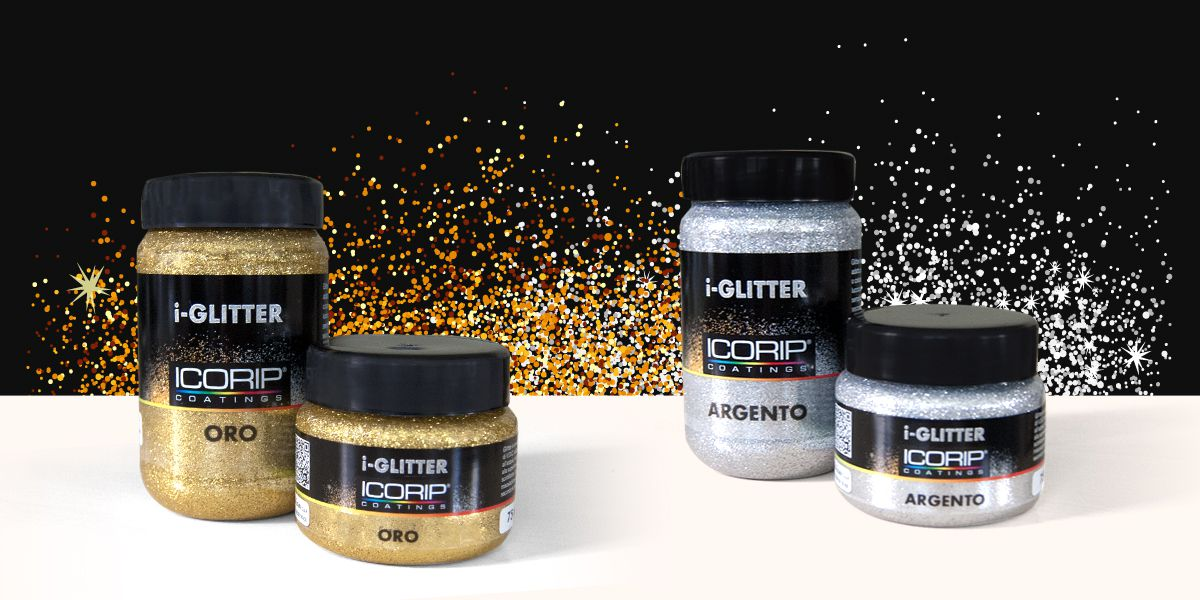 I-GLITTER  250 ml per l'idropittura ARGENTO