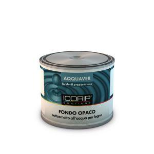 AQQUAVER FONDO OPACO 500ml Pittura opaca all'acqua, indicata per la preparazione di supporti in legno e muratura