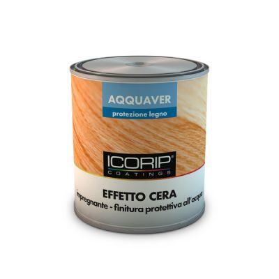 AQQUAVER EFFETTO CERA Incolore  750 ml Impregnante e finitura all'acqua per legno ad effetto cerato