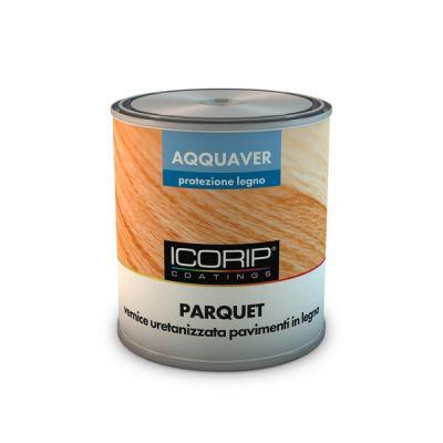AQQUAVER PARQUET 750 ml FINITURA LUCIDA Vernice all'acqua uretanizzata, resistente al graffio e all'abrasione