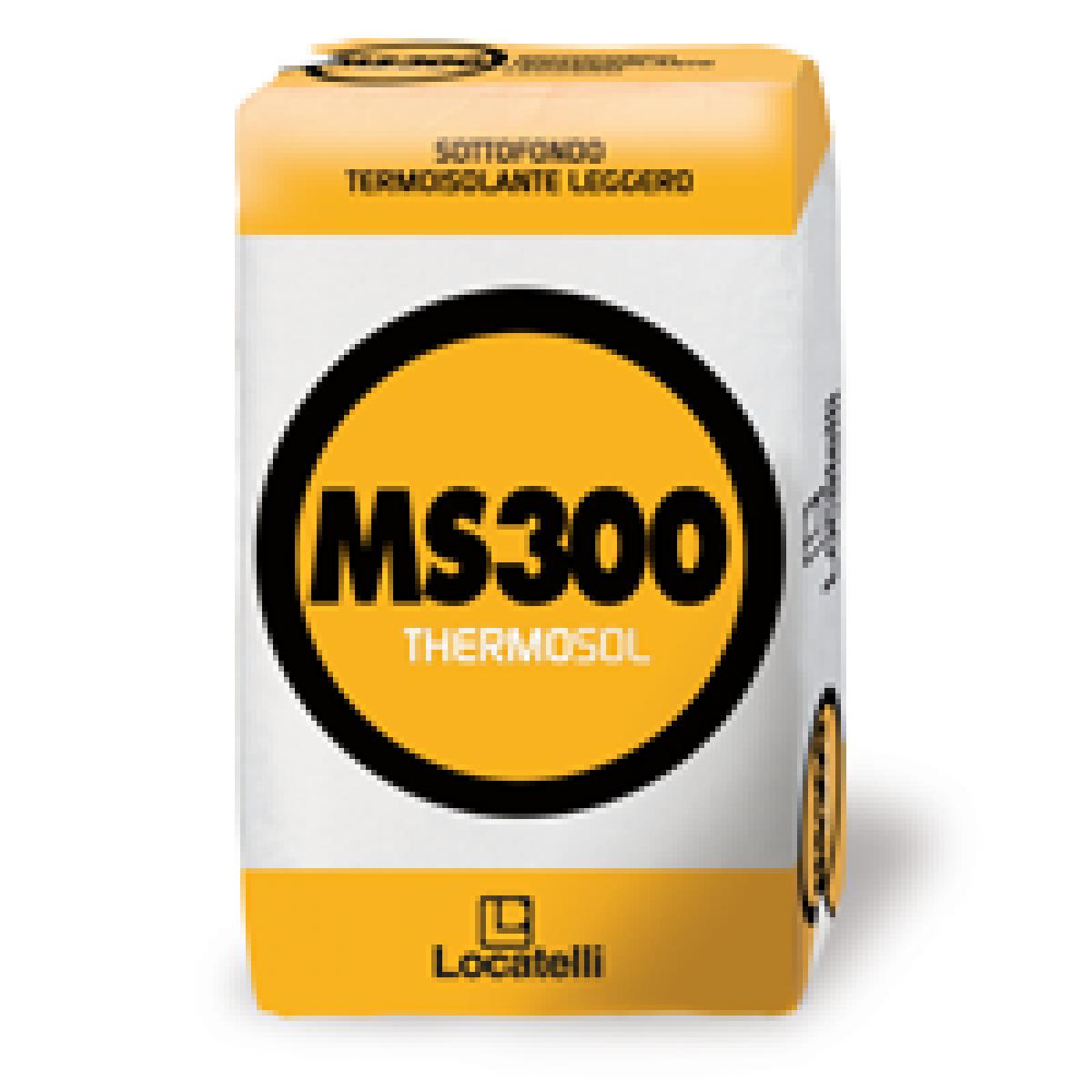 MS300 THERMOSOL è un sottofondo termoisolante leggero, utilizzato per la realizzazione di sottofondi alleggeriti, sottofondi isolanti e isolazioni acustiche di solai e di coperture.