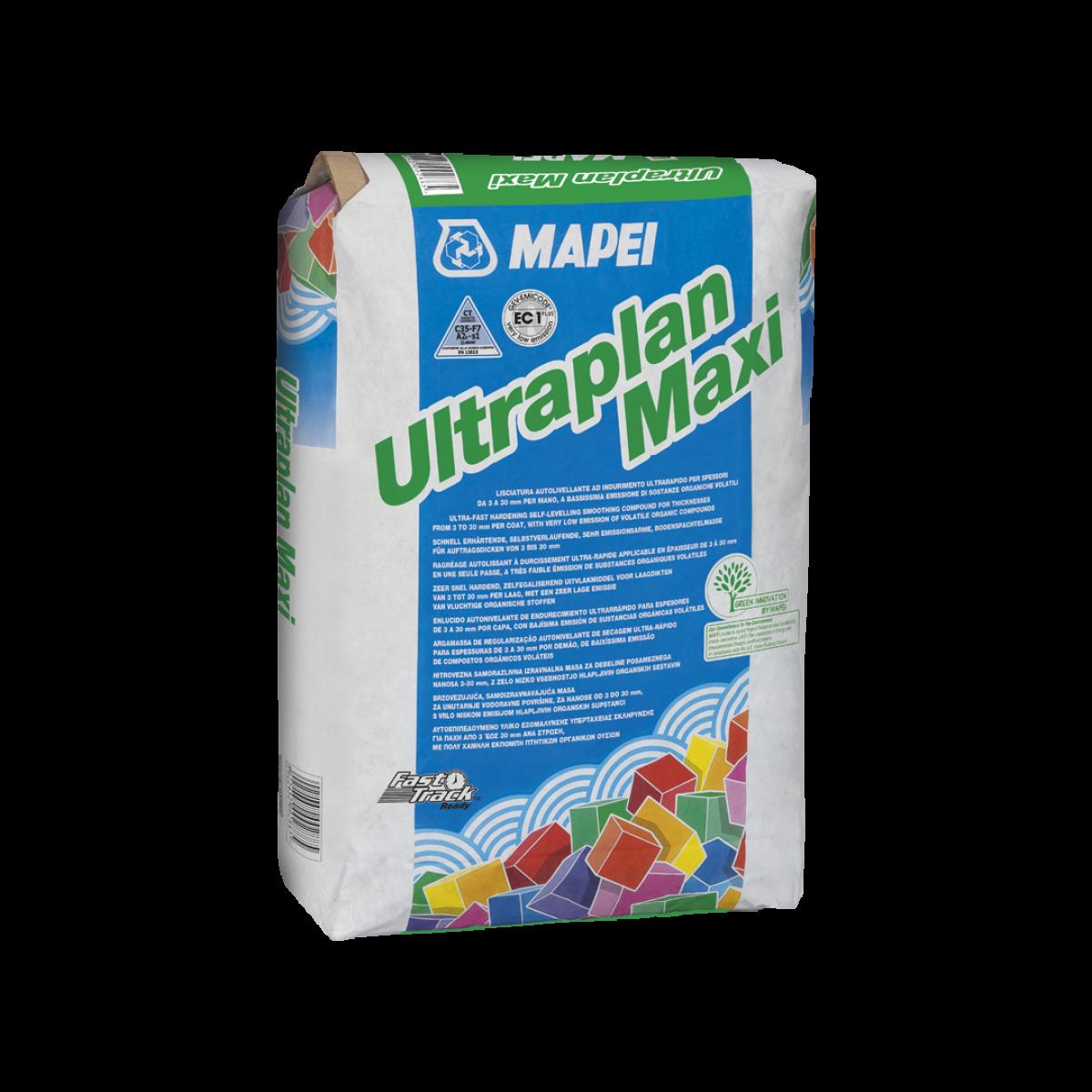 ULTRAPLAN MAXI Lisciatura autolivellante ad indurimento ultrarapido per spessori da 3 a 40 mm.