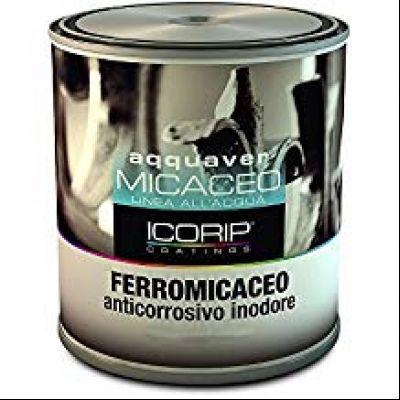 AQQUAVER FERROMICACEO 750 ml 6050 Smalto acrilico all'acqua, anticorrosivo ad effetto antichizzante