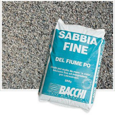Sabbia fine, Sabbia Vagliata, Sabbia Mista in sacchi 25 kg
