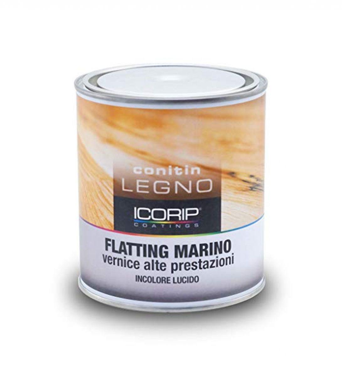 FLATTING MARINO  INCOLORE LUCIDO  750ml Vernice uretanizzata trasparente ad alte prestazioni, resistente agli agenti atmosferici