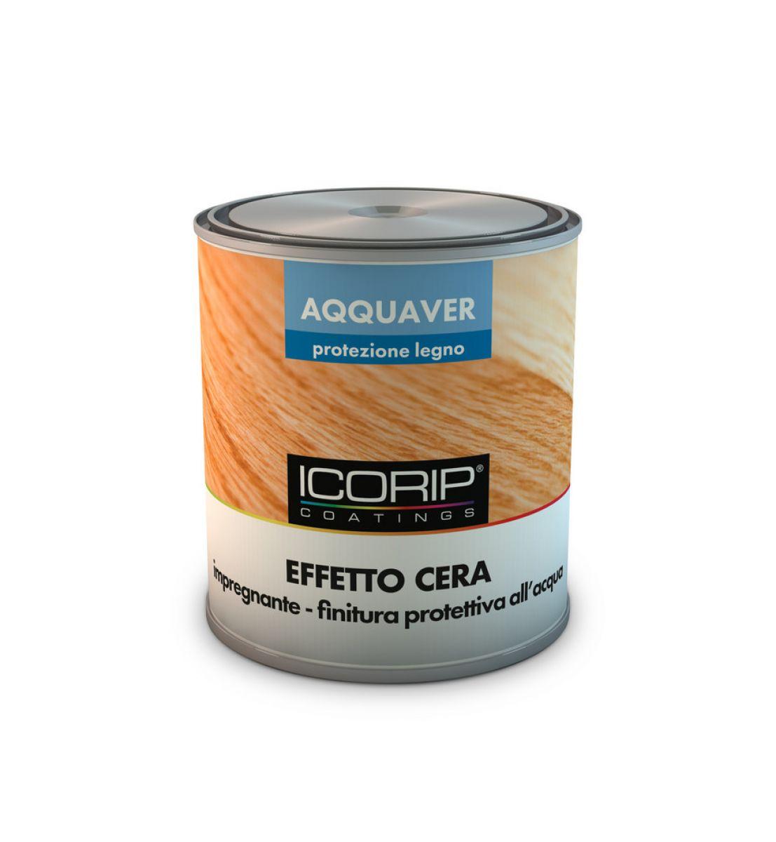 AQQUAVER EFFETTO CERA 2,5 lt COLORATO Impregnante e finitura all'acqua per legno ad effetto cerato