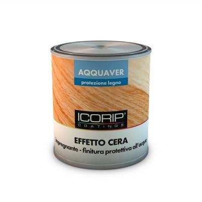 AQQUAVER EFFETTO CERA 750 ml COLORATO Impregnante e finitura all'acqua per legno ad effetto cerato