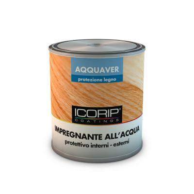 AQQUAVER IMPREGNANTE 2,5 lt. INCOLORE Impregnante protettivo ad acqua per legno, atossico e inodore, resistente all'esterno e all'azione dei raggi UV