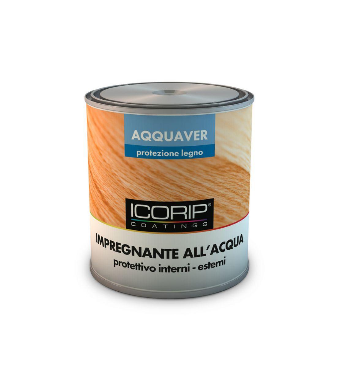 AQQUAVER IMPREGNANTE 750 ml COLORATO Impregnante protettivo ad acqua per legno, atossico e inodore, resistente all'esterno e all'azione dei raggi UV