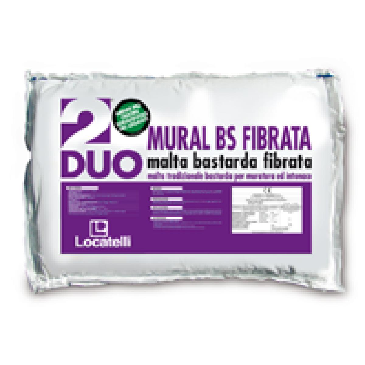 MURAL BS FIBRATA è un predosato con fibre alcalo-resistenti che riduce la fessurazione degli intonaci durante la fase di essiccazione