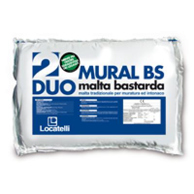 MURAL BS è una malta bastarda tradizionale predosata con inerti selezionati fino a 3 mm. impiegata per intonaco e muratura di mattoni, blocchi di calcestruzzo