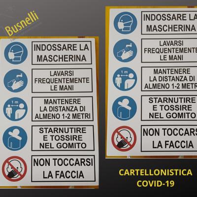 CARTELLONISTICA COVID 19
