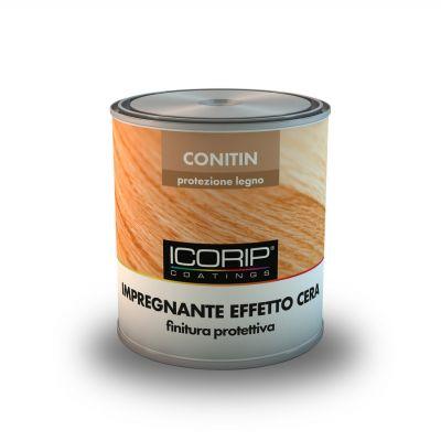 CONITIN EFFETTO CERA 2,50 lt. Incolore Impregnante protettivo per legno a finire, per interni ed esterni, dall'aspetto tipicamente ceroso. Resistente all'azione dei raggi UV, non forma pellicola e non sfoglia.
