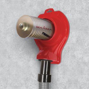 La Cuffia consente l'aspirazione delle polveri durante l'utilizzo dei foretti