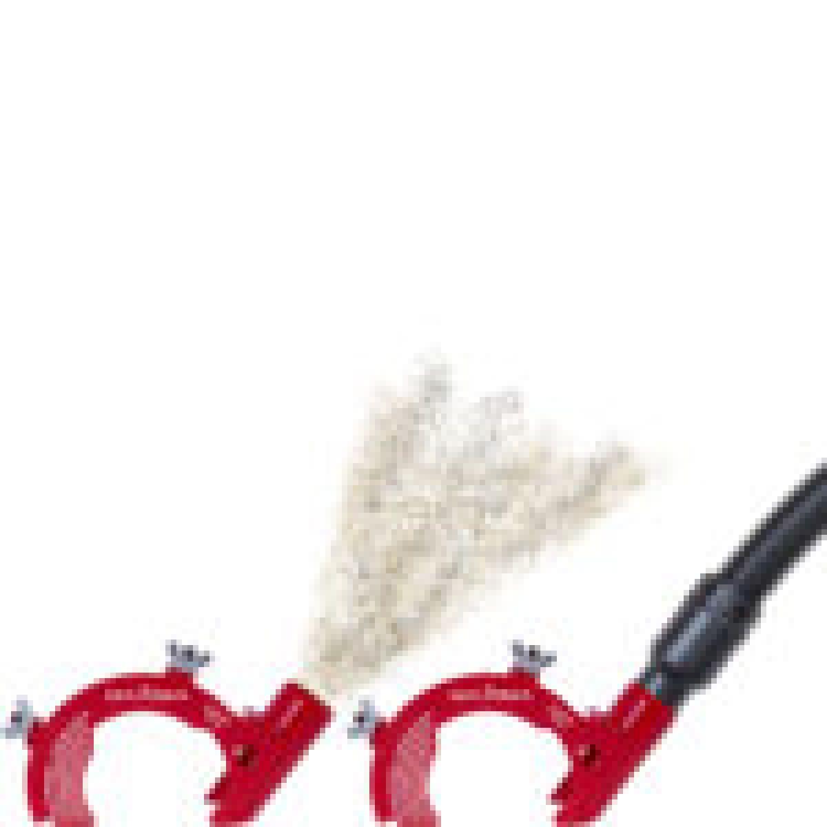 CUFFIA metallica permette una notevole riduzione di tutti i tipi di polveri, facile da collegare ad una aspirapolvere