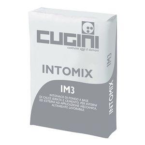 INTOMIX IM3 Intonaco di fondo a base di calce e cemento per interni ed esterni, altamente lavorabile