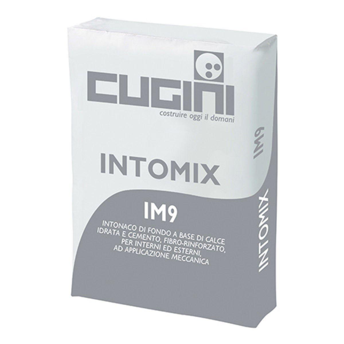 INTOMIX IM9 Intonaco di fondo a base di calce idrata e cemento, fibro-rinforzato, per interni ed esterni