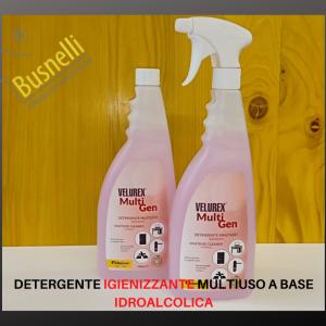 Detergente igienizzante multiuso a base idroalcolica