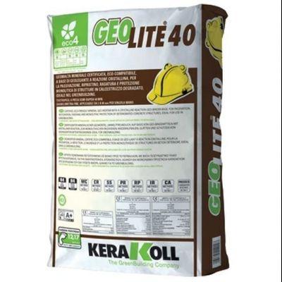 Geolite 40, geomalta minerale certificata per la passivazione, ripristino, rasatura e protezione del calcestruzzo
