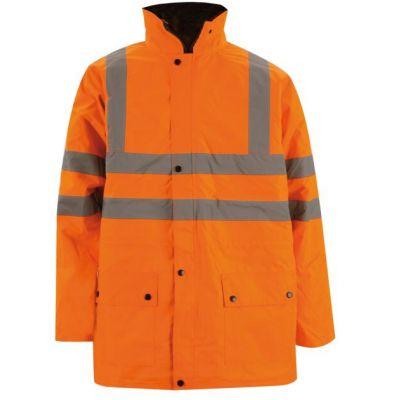 Giacca tiplo uso arancio, alta visibilità, categoria II: PARKA, GILET CON MANICHE, GILET
