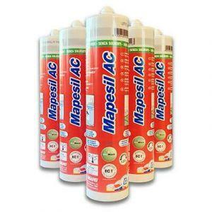 Mapesil AC sigillante siliconico acetico puro resistente alla muffa con tecnologia Bio Block