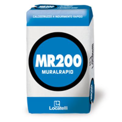MR200 MURALRAPID è un calcestruzzo rapido NERO pronto all'uso, con rapido indurimento, con pedonabilità entro 3 ore e carrabilità entro 8 ore
