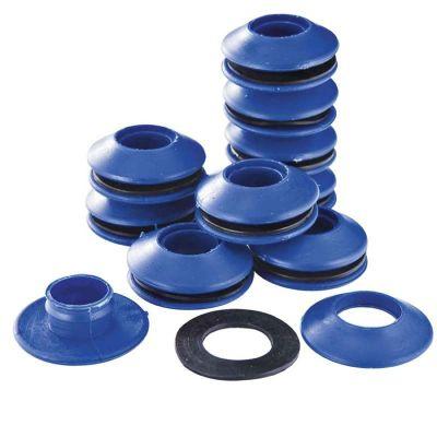 Occhielli autoperforanti in plastica resistenti, si installano su qualsiasi tipo di telone o tela
