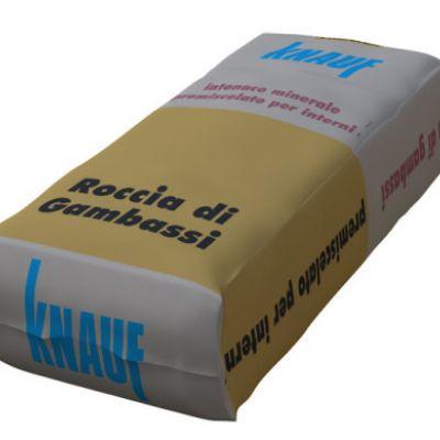 ROCCIA DI GAMBASSI, Intonaco a base di calce, perlite, anidride, con elevata resistenza termica, acustica, all'urto e al fuoco