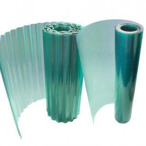 Ondulux ondulato e liscio disponibile nel colore verde e trasparente