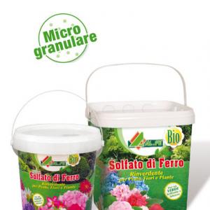 SOLFATO DI FERRO 5 kg concime per combattere tutte le forme di clorosi ferrica che provocano l'ingiallimento e la caduta delle foglie