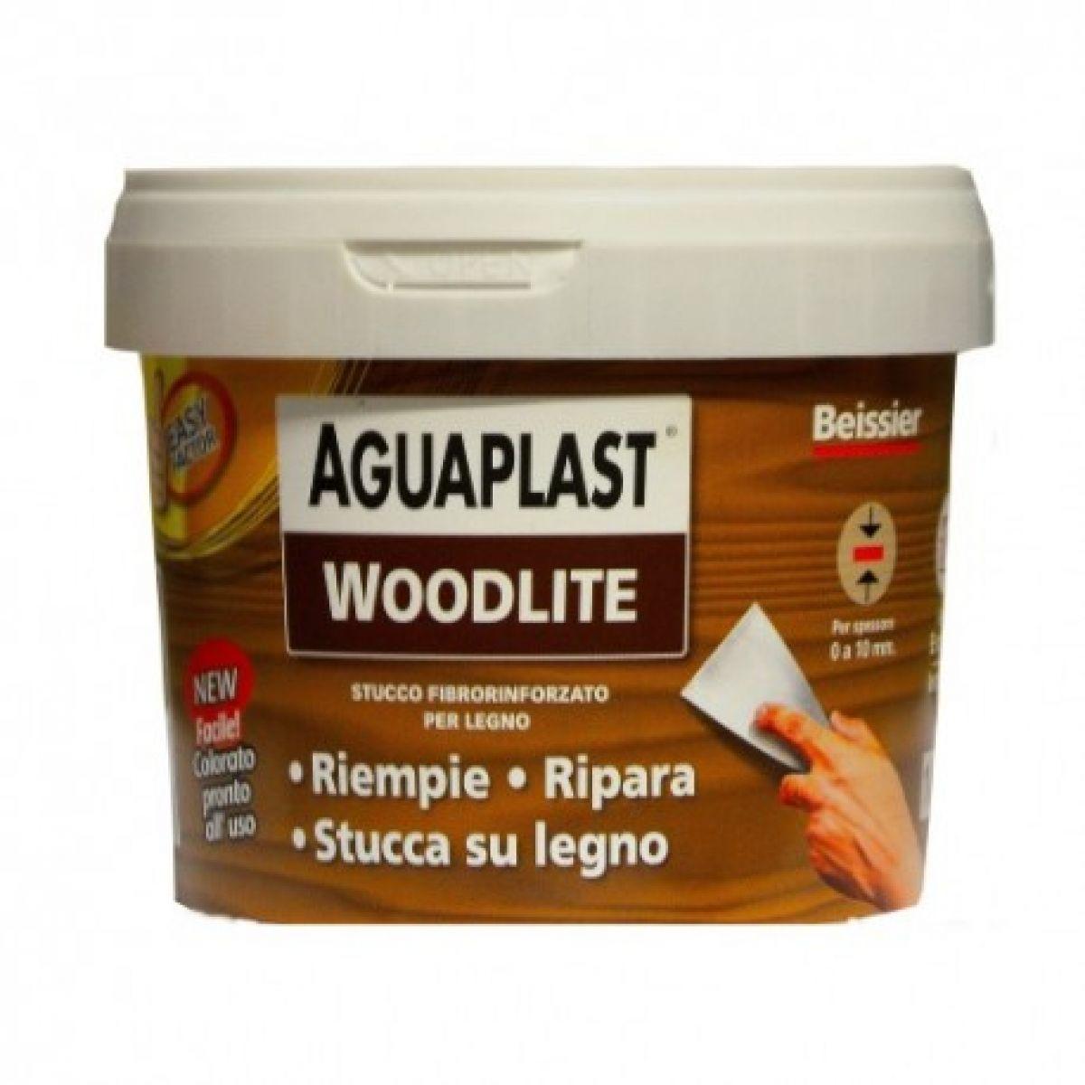 WOODLITE NOCE CHIARO  1 kg stucco fibrato per riempire buchi e crepe su legno, in mano unica senza ritiro, resistente alle crepe, non lascia aloni